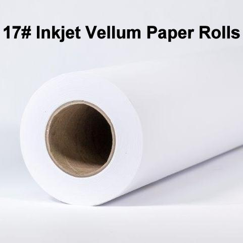 Inkjet Vellum Rolls, 17#