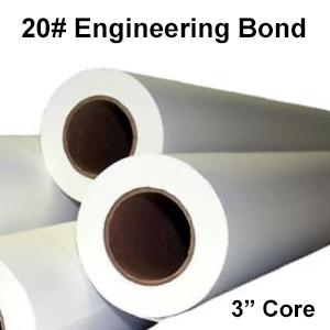 "20# Bond Paper Rolls  (3"" Cores)"