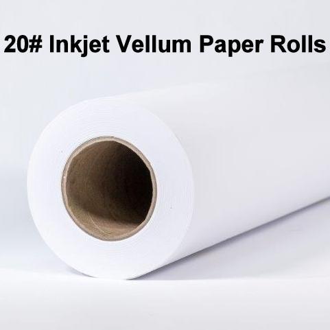 Inkjet Vellum Rolls, 20#