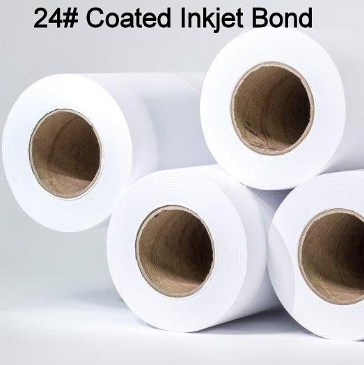 24# Coated, High Resolution Plotter Paper Rolls