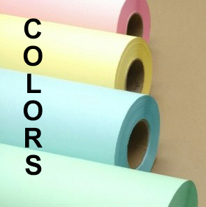 "Wide Format Colored Paper Rolls (3"" Cores)"