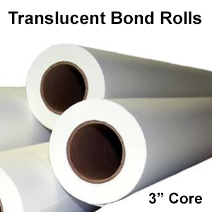 "Translucent Bond Engineering Rolls (3"" cores)"