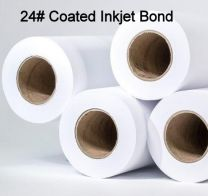 "22"" x 150' 24# Coated, High Resolution Plotter Paper, 4 rolls/case"