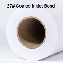 "24"" x 150' 27# Coated, High Resolution Plotter Paper Rolls, 1 roll/case"
