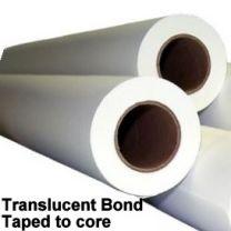 "22"" x 500' 18# Translucent Bond, 2 rolls/case (Taped to core)"