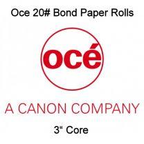 """15"""" x 500' 20# Canon / Oce Brand Bond, 3"""" core, 2 rolls/case"""