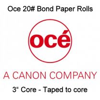 "18"" x 500' 20# Oce Brand Bond, 3"" core, 2 rolls/case - Taped to core"