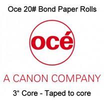 "34"" x 500' 20# Oce Brand Bond, 3"" core, 2 rolls/case - Taped to core"