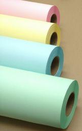 "24"" x 500' 20# Bond - Blue Tinted Paper Rolls -  2 rolls/case (3"" Cores)"