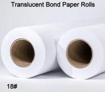 "24"" x 300' 18# Translucent Bond, 2 rolls/case (2"" Cores)"